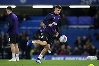 Mason Mount of Derby County, on loan from Chelsea, warms up pre-match during Chelsea vs Derby County, Caraboa Cup Football at Stamford Bridge on 31st October 2018