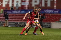 Bridgeview, IL - Saturday March 31, 2018: Mallory Weber, Sarah Gorden during a regular season National Women's Soccer League (NWSL) match between the Chicago Red Stars and the Portland Thorns FC at Toyota Park.