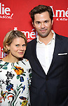 Celia Keenan Bolger and Andrew Rannells attends the Broadway Opening Night performance of 'Amelie' at the Walter Kerr Theatre on April 3, 2017 in New York City