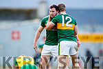 Dáithí Casey who scored the late point to win the game and Stephen O'Brien Kerry after the Allianz Football League Division 1 Round 1 match between Kerry and Donegal at Fitzgerald Stadium in Killarney, Co. Kerry.