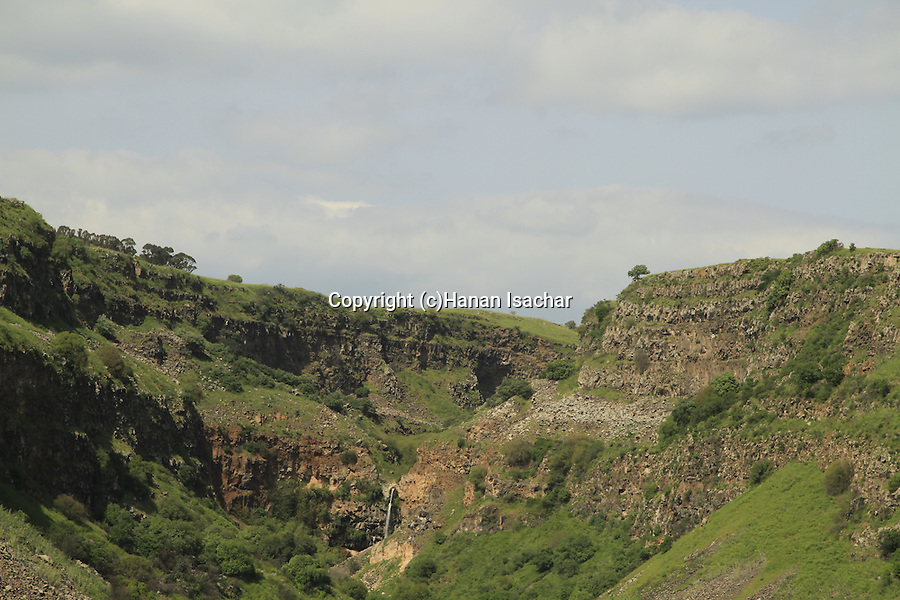 Golan Heights, Gamla waterfall at Gamla Nature Reserve