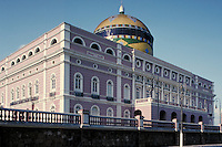 Manaus Opera House exterior view. Manaus Amazonas Brazil The Amazon.