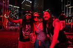 Lil Wayne and Paris Hilton backstage at David Guetta at Ultra Music Festival Miami
