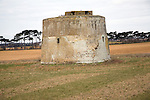 Martello tower Z in field Alderton, Suffolk