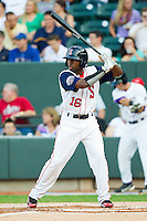 Carolina League All-Star Jackie Bradley Jr. #16 of the Salem Red Sox at bat against the California League All-Stars during the 2012 California-Carolina League All-Star Game at BB&T Ballpark on June 19, 2012 in Winston-Salem, North Carolina.  The Carolina League defeated the California League 9-1.  (Brian Westerholt/Four Seam Images)