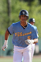 Gorkys Hernandez of the Myrtle Beach Pelicans vs. the Frederick Keys at BB&T Coastal Field in Myrtle Beach, SC on April 11, 2008