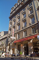 The Hotel continental and the restaurant La Criee on rue Montesquieu , Bordeaux, Aquitaine, France