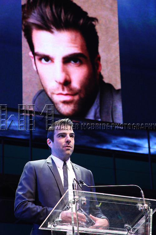 Zachary Quinto.during the 2001 Theatre World Awards Presentation at the August Wilson Theatre in New York City.