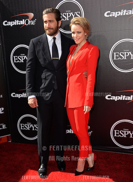 Jake Gyllenhaal &amp; Rachel McAdams at the 2015 ESPY Awards at the Microsoft Theatre LA Live.<br /> July 15, 2015  Los Angeles, CA<br /> Picture: Paul Smith / Featureflash