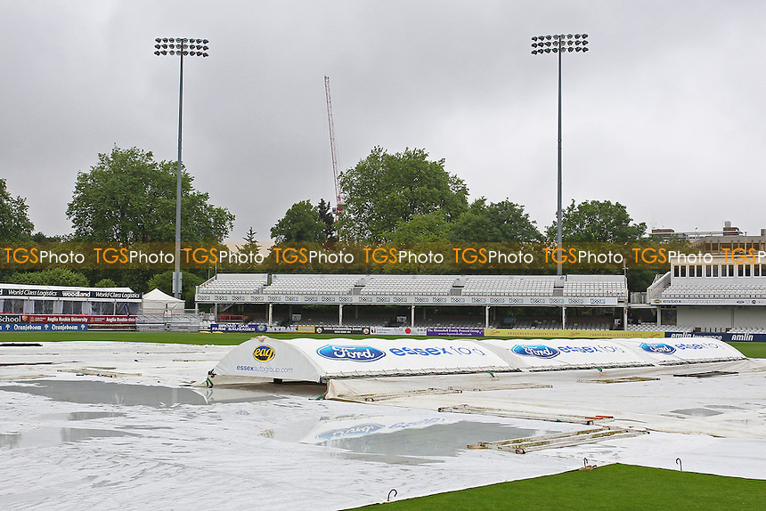 The covers are on as the match is abandoned without any play on Day Four - Essex CCC vs Surrey CCC - LV County Championship Division Two Cricket at the Essex County Ground, Chelmsford, Essex - 28/05/14 - MANDATORY CREDIT: Gavin Ellis/TGSPHOTO - Self billing applies where appropriate - 0845 094 6026 - contact@tgsphoto.co.uk - NO UNPAID USE