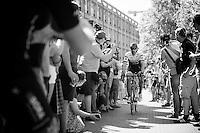 Fabian Cancellara (SUI/Trek-Segafredo) on his way to sign-in through the crowd<br /> <br /> stage 2: Arnhem-Nijmegen (NLD) 190km<br /> 99th Giro d'Italia 2016