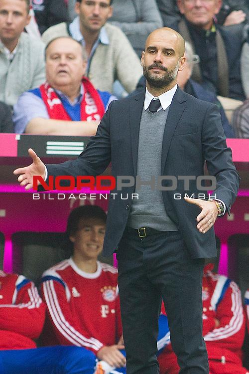 04.10.2014, Allianz Arena, Muenchen, GER, 1.FBL,  FC Bayern Muenchen vs. Hannover 96, im Bild Pep Guardiola (Cheftrainer FCB) <br /> <br />  Foto &copy; nordphoto / Straubmeier