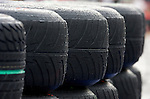 02 Apr 2009, Kuala Lumpur, Malaysia ---   Rain drops are seen on a tyre at the paddock during the 2009 Fia Formula One Malasyan Grand Prix at the Sepang circuit near Kuala Lumpur. Photo by Victor Fraile --- Image by © Victor Fraile / The Power of Sport Images