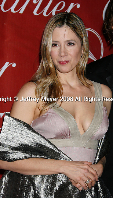 PALM SPRINGS, CA. - January 06: Actress Mira Sorvino arrives at The 20th Anniversary of the Palm Springs International Film Festival Awards Gala at the Palm Springs Convention Center in on December 6, 2009 in Palm Springs, California.
