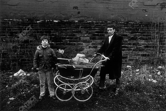 Man with his two sons, Bradford, Great Britain, 1978
