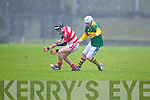 Ronan Kenny Kerry Hurlers v Brendan Weathers Cork Institute Technology in the Waterford Crystal Cup at Austin Stack Park, Tralee on Saturday 15th January.