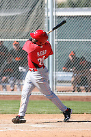 Justin Reed, Cincinnati Reds minor league spring training..Photo by:  Bill Mitchell/Four Seam Images.
