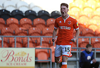 Blackpool's Jordan Thompson celebrates scoring the opening goal <br /> <br /> Photographer Stephen White/CameraSport<br /> <br /> The EFL Sky Bet League One - Blackpool v Rochdale - Saturday 6th October 2018 - Bloomfield Road - Blackpool<br /> <br /> World Copyright © 2018 CameraSport. All rights reserved. 43 Linden Ave. Countesthorpe. Leicester. England. LE8 5PG - Tel: +44 (0) 116 277 4147 - admin@camerasport.com - www.camerasport.com