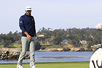 Dustin Johnson (USA) on the 7th green during Sunday's Final Round of the 2018 AT&amp;T Pebble Beach Pro-Am, held on Pebble Beach Golf Course, Monterey,  California, USA. 11th February 2018.<br /> Picture: Eoin Clarke | Golffile<br /> <br /> <br /> All photos usage must carry mandatory copyright credit (&copy; Golffile | Eoin Clarke)