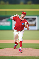 Clearwater Threshers starting pitcher Shane Watson (28) during a game against the Lakeland Flying Tigers on August 5, 2016 at Bright House Field in Clearwater, Florida.  Clearwater defeated Lakeland 3-2.  (Mike Janes/Four Seam Images)
