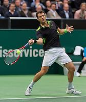 13-02-14, Netherlands,Rotterdam,Ahoy, ABNAMROWTT, Paul-Henri Mathieu(FRA)<br /> Photo:Tennisimages/Henk Koster