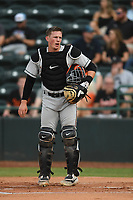 Adley Rutschman (37) of the Delmarva Shorebirds during game one of the Northern Division, South Atlantic League Playoffs against the Hickory Crawdads at L.P. Frans Stadium on September 4, 2019 in Hickory, North Carolina. The Crawdads defeated the Shorebirds 4-3 to take a 1-0 lead in the series. (Tracy Proffitt/Four Seam Images)