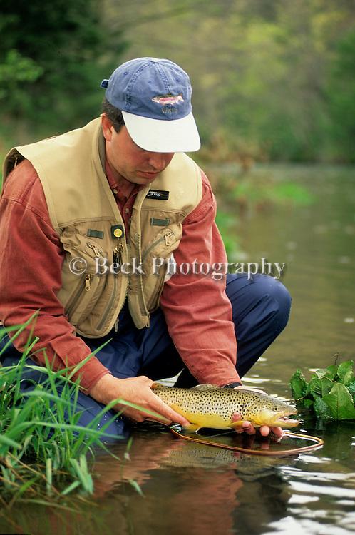 Joe Macus and a nice Eastern Brown trout.