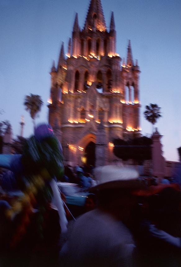 San Miguel Cathedral at dusk