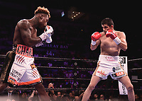 "LAS VEGAS - JUNE 23: Jermell Charlo vs Jorge Cota at Fox Sports ""PBC on Fox Fight Night"" at Mandalay Bay Resort & Casino on June 23, 2019 in Las Vegas, Nevada. (Photo by Scott Kirkland/Fox/PictureGroup)"
