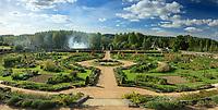 Les Jardins du château de Valmer : le potager vu depuis la terrasse de Léda (mention obligatoire Château de Valmer)