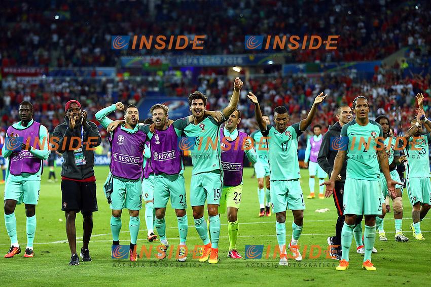 Esultanza fine gara Portogallo Portugal celebration<br /> Lyon 06-07-2016 Stade de Lyon Football Euro2016 Portugal - Wales / Portogallo - Galles Semi-finals / Semifinali <br /> Foto Matteo Ciambelli / Insidefoto