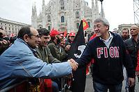 Maurizio Landini <br /> Milano 14-11-2014 manifestazione per sciopero generale Fiom Cgil <br /> General strike Demonstration against the government's economic policy in Milano <br /> foto Andrea Ninni/Image/Insidefoto