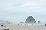 Haystack Rock at Cannon Beach Oregon.