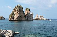 Italy, Italia, Sicilia, Sicily, Scopello, Faraglioni di Scopello, Scopello Stack