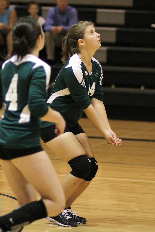 Photograph from the 2010 Mt. Rainier Lutheran High School girl's volleyball season.