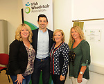 Former Kerry footballer and  Dancing with the Stars winner Aidan OÕMahony with  Eileen Keane, Jacinta Hennessy and  Gretta Murphy at the opening of the Irish Wheelchair Association new Community Centre at The Reeks Gateway, Killarney on Friday.   Picture: macmonagle.com