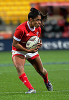 Magali Harvey takes a pass during the 2017 International Women's Rugby Series rugby match between the NZ Black Ferns and Canada at Westpac Stadium in Wellington, New Zealand on Friday, 9 June 2017. Photo: Dave Lintott / lintottphoto.co.nz