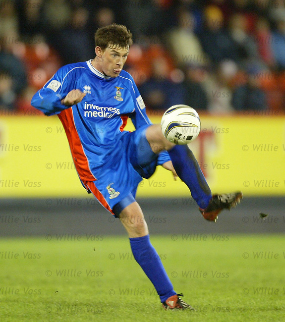 Stuart McCaffrey, Inverness Caledonian Thistle.stock season 2003-2004.pic willie vass