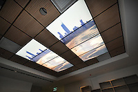 Panoramas used as light boxes in ceilings of the radiography ward at the Gold Coast University Hospital.