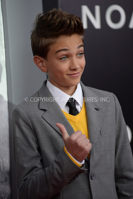 WWW.ACEPIXS.COM<br /> March 26, 2014 New York City<br /> <br /> Gavin Casalegno attending the 'Noah' New York premiere at Ziegfeld Theatre on March 26, 2014 in New York City.<br /> <br /> Please byline: Kristin Callahan<br /> <br /> ACEPIXS.COM<br /> <br /> Tel: (212) 243 8787 or (646) 769 0430<br /> e-mail: info@acepixs.com<br /> web: http://www.acepixs.com