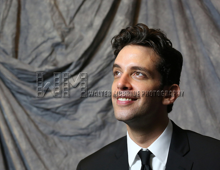 Nick Cordero attends the 2014 Tony Awards Meet the Nominees Press Junket at the Paramount Hotel on April 30, 2014 in New York City.