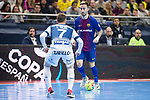 Barcelona Lassa Mario Rivillos and R. Renov. Zaragoza Victor Tejel during Futsal Spanish Cup 2018 at Wizink Center in Madrid , Spain. March 16, 2018. (ALTERPHOTOS/Borja B.Hojas)