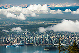 CANADA, Vancouver, British Columbia, View of the city of Vancouver from the top of Grouse Mountain