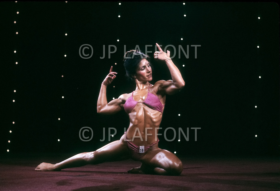 Atlantic City, April, 24, 1981. Contestant at the Women's World Bodybuilding Championships.