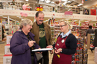 Marion & Fred Davey of Chesterfield with Hobbycraft's Katie Knight