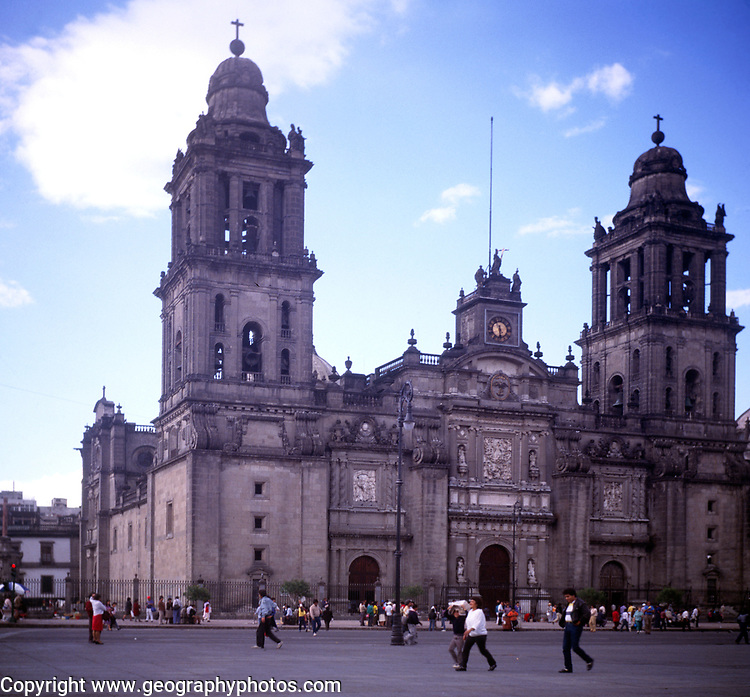 A294H1 Cathedral zocalo Mexico City Mexico