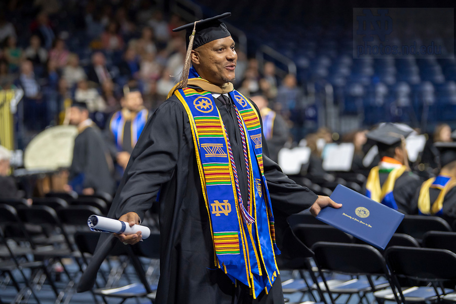 May 18, 2019; The Mendoza College of Business 2019 Graduate Commencement and Diploma Ceremony at the Purcell Pavilion. (Photo by Barbara Johnston/University of Notre Dame)
