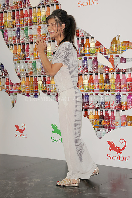 WWW.ACEPIXS.COM . . . . . .May 25, 2011...New York City... Jessica Szohr participates in SoBe Celebrities 'Try Everything'  challenge in Madison Square Park on May 25, 2011 in New York City....Please byline: KRISTIN CALLAHAN - ACEPIXS.COM.. . . . . . ..Ace Pictures, Inc: ..tel: (212) 243 8787 or (646) 769 0430..e-mail: info@acepixs.com..web: http://www.acepixs.com .