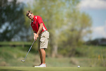 19 MAY 2016: Jimmy Jones of Florida Southern attempts a putt during the 2016 Division II Men's Individual Golf Championship held at Green Valley Ranch Golf Club in Denver, CO. Justin Tafoya/NCAA Photos