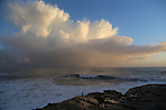 Storm cloud and cormorant at Lighthouse Point in Santa Cruz